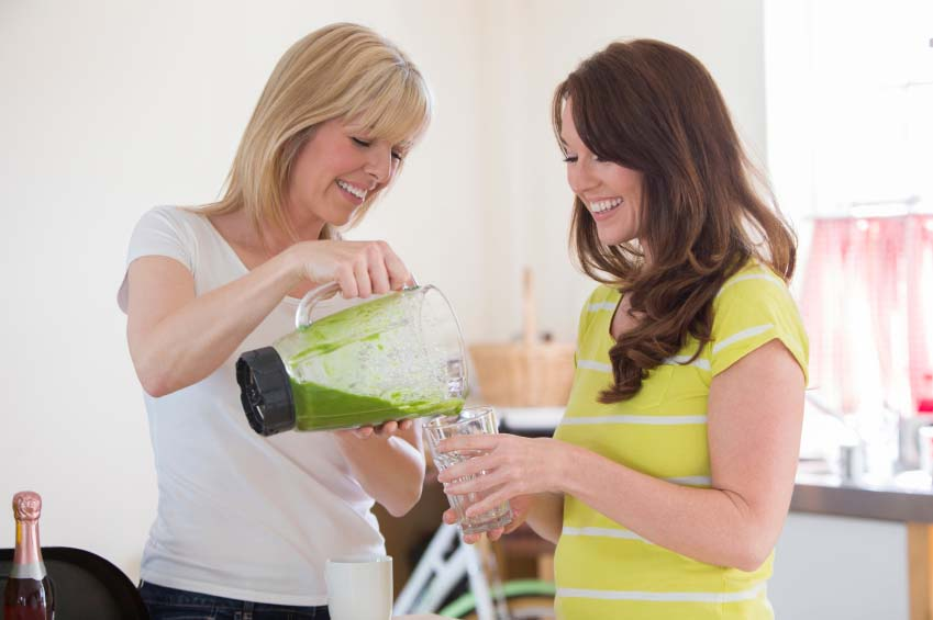 Ladies Drinking Green Smoothies