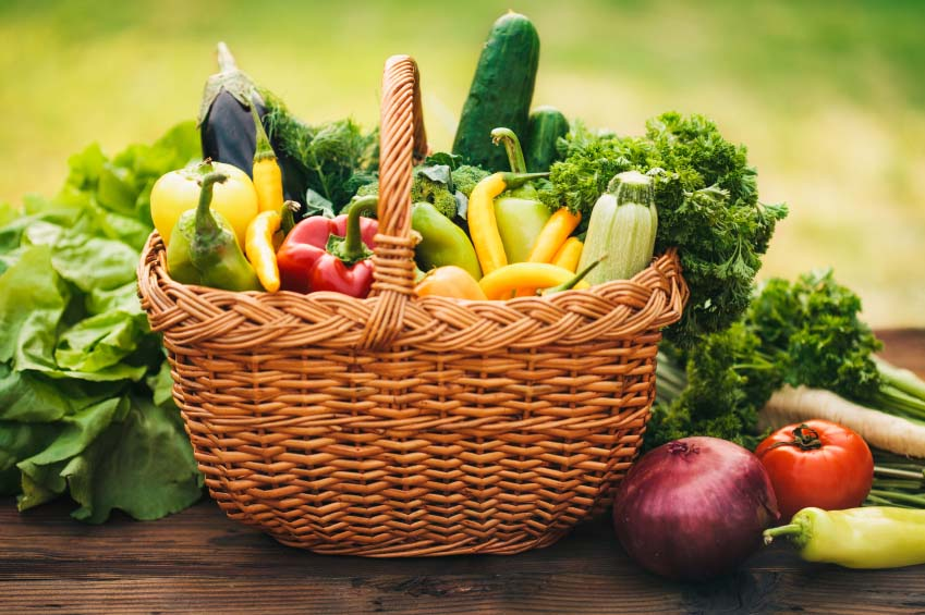 Basket Full of Colorful Foods