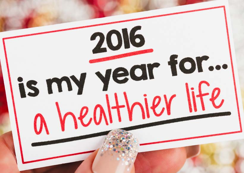 NOTE - 2016 Is My Year for a Healthier Life