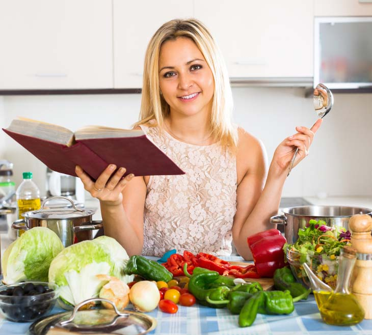 Woman Committing to New Menu Plan