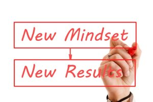 Graphic of New Mindset equals New Results