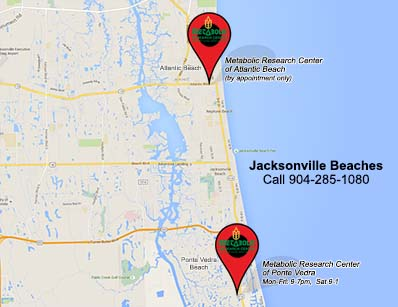 MRC Jacksonville Beaches Map