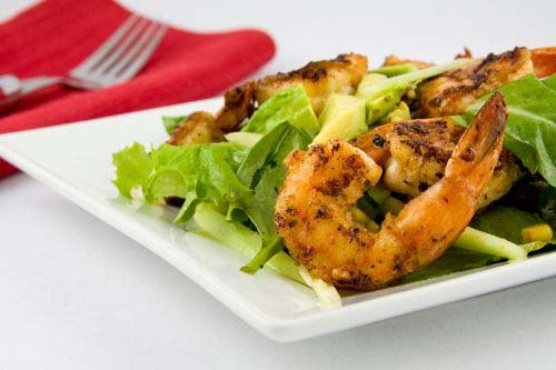 Lemon Cilantro Grilled Shrimp