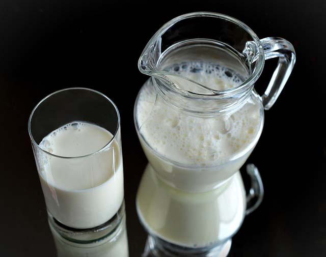 Glass of Low Fat Milk