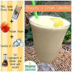 Recipe Image: Peaches and Cream Smoothie