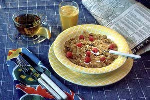 Breakfast with Cereal and Fresh Fruit