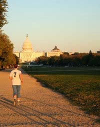 Jogging in Washington DC