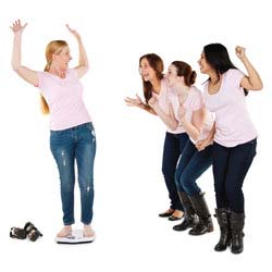 Women Celebrating Weight Loss