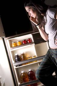 Woman with Bored Refrigerator Stare