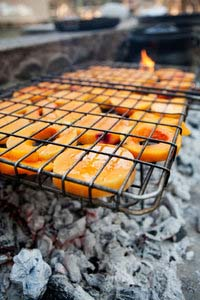 Slices of Butternut Squash on the Grill