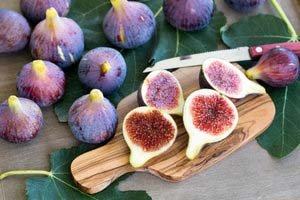 Fresh Whole and Sliced Figs