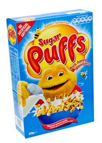 Box of Sugar Puffs Cereal