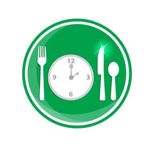 Plate with Clock and Utensils