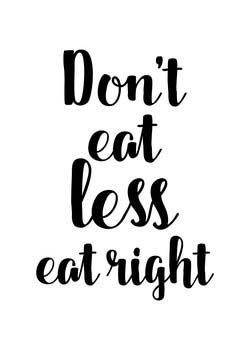 Don't Eat Less Sign
