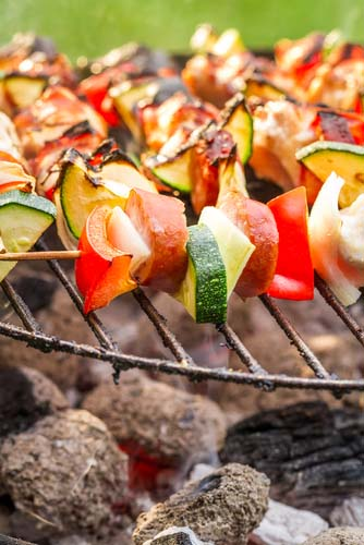 Vegetables Cooking on the Grill
