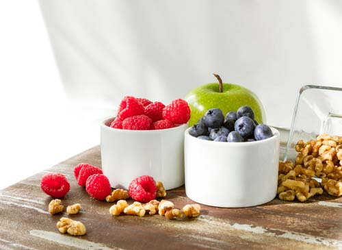 Healthy Snacks of Fruits and Nuts