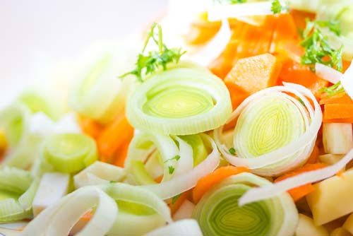 Mirepoix of Carrots, Onions and Celery