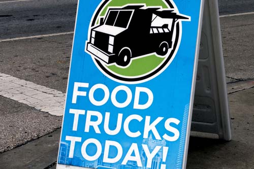 Food Trucks Today Sign