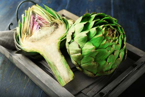 Whole and Sliced Artichokes