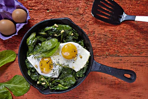 Healthy Spinach & Egg Breakfast