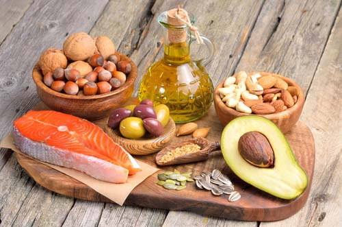 Assorted Foods with Good Fats