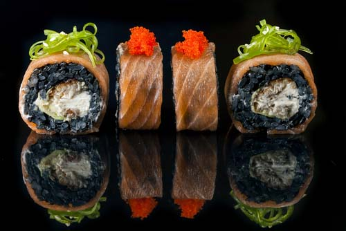 Black Rice and Salmon Roll