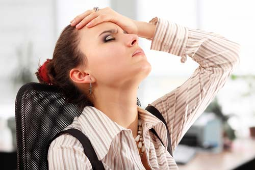 Woman Dealing with Stress at Work